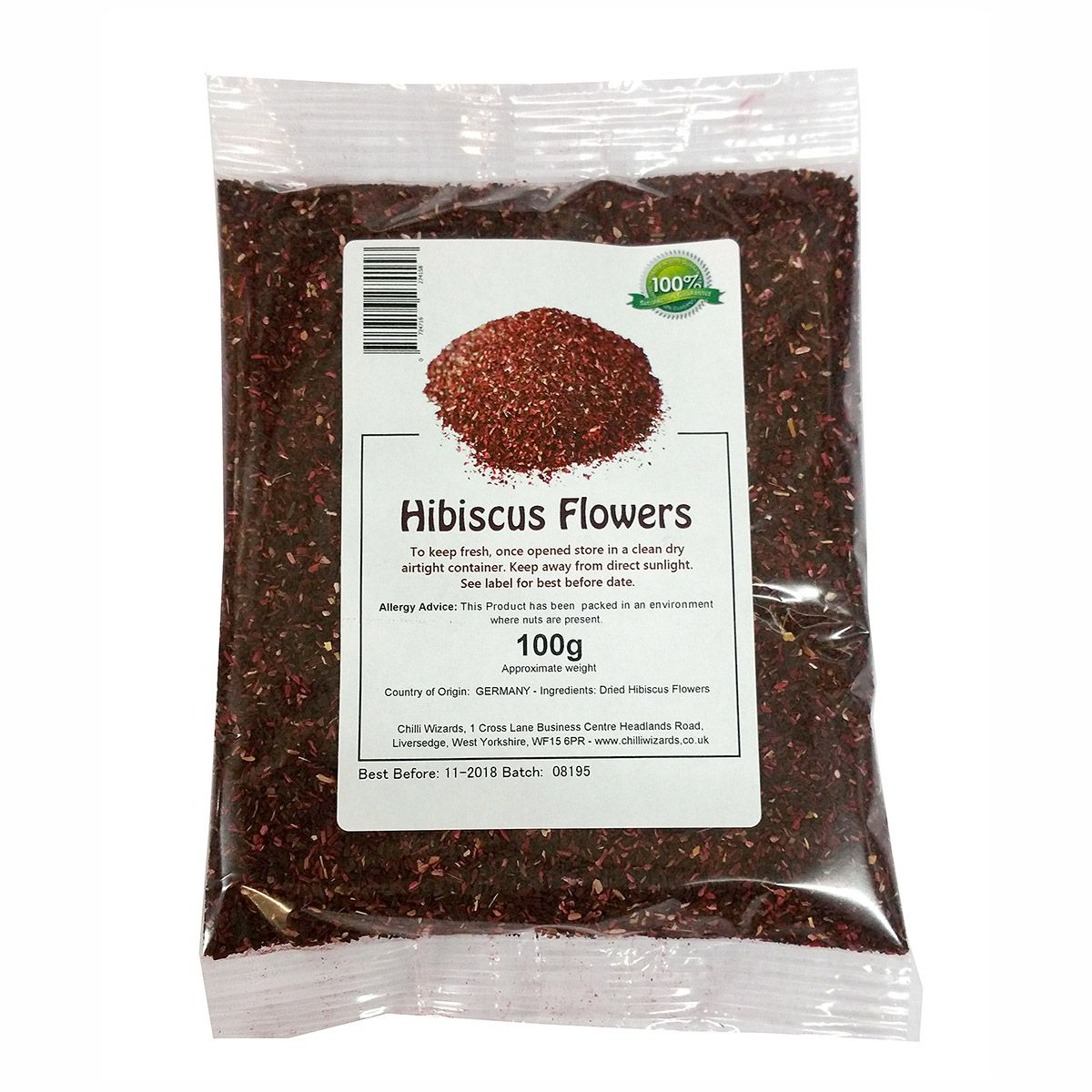 Ground Dried Hibiscus Flowers 20 X 100g Packs Wholesale Case